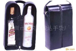 订做真皮礼品袋红酒袋洋酒袋深圳葡萄酒包装袋