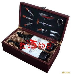 红酒礼盒/仿红木红酒盒/双支装酒盒带配件