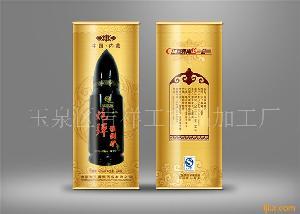 草原福顺祥炮弹瓶型猛倒驴酒