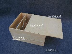 现货供应六支装抽拉盖红酒木箱,红酒木盒,红酒礼盒