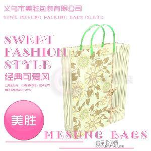 塑料印花pp袋|服饰购物叉耳手提袋
