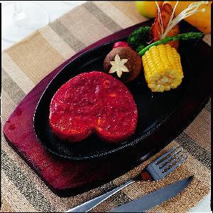 供应蒸烩煮中西餐冷冻调理包之爱心牛排