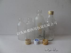 蒙砂液体玻璃瓶 保健饮品包装瓶