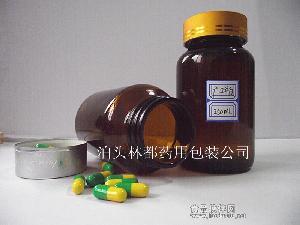 250ml棕色广口玻璃瓶 瓶体光洁透明