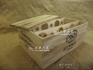 12支装复古木箱桐木 做旧红酒木箱定做 葡萄酒木盒 红酒木盒