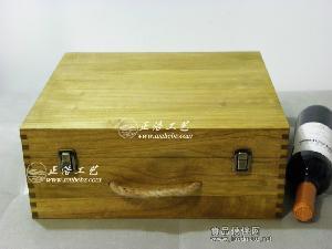 桐木复古三支装红酒木盒,三支装葡萄酒木盒,三瓶装葡萄酒木盒