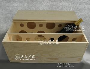 十二支装木箱 12瓶装葡萄酒木箱 六支装酒箱 厂家供应定做红酒盒