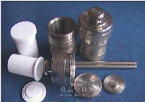 供应钢衬F4消解罐,压力溶弹,水热合成釜,高压消解罐,消解罐内衬杯