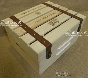 实木镂空红酒木箱 六支红酒木盒 橄榄油包装箱 木制酒盒 现货供应