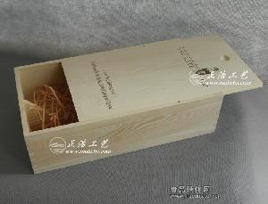 双支抽拉盖红酒木盒松木 葡萄酒木盒 木质酒盒 曹县红酒木盒厂家
