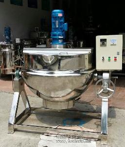 厂家直销 不锈钢可倾式夹层锅 电加热 燃气 蒸汽加热蒸煮锅 炒锅