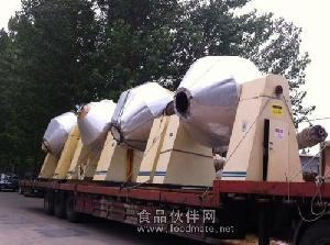 二手4立方4000升4吨搪瓷双锥真空回转干燥机