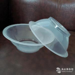 400ml透明耐高温可封口一次性塑料扣肉碗