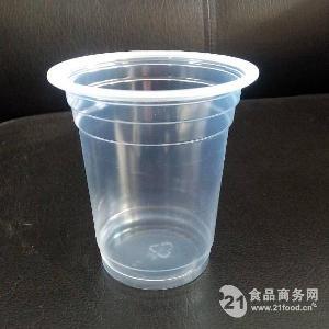 pp一次性360ml耐高温塑料透明豆浆杯