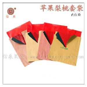 苹果内红三色套袋