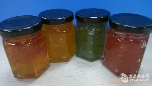 各种水果果酱和花酱