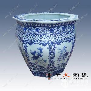 批量定做陶瓷荷花缸 专业生产定制厂家
