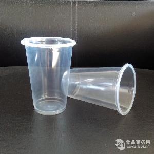 pp透明耐高温一次性塑料可封口豆浆杯
